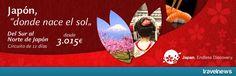 """Ofertas en www.viajesviaverde.es: Japón """"donde nace el sol"""""""