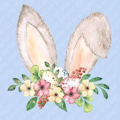 Easter Art, Easter Crafts, Easter Eggs, Bunny Drawing, Bunny Art, Easter Drawings, Cute Drawings, Ostern Wallpaper, Lapin Art