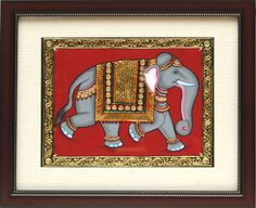 Tanjore Paintings - Elephant