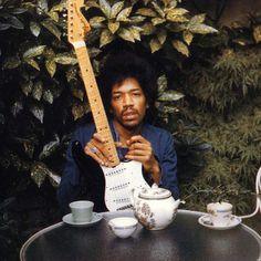 Jimi Hendrix with tea. Knowing that Jimi sat and had tea on occasion just made my day!