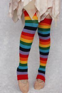 Rainbow leg warmers, of course.