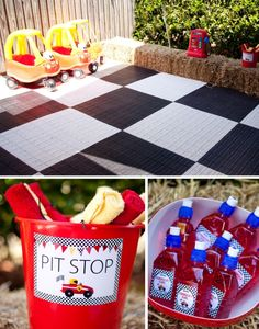 Ferrari Race Car Party Inspiration Board by Bella Bella Studios via Marabous #Ferrari #horse #car #racing #race #party #birthday #bellabellastudios #cake #cupcake #favors #red