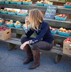 Me at the Farmer's Market in Fall:)!