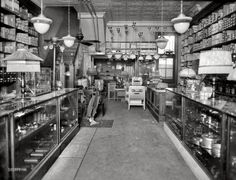 "Parezo Electric: 1923. Washington, D.C., circa 1923. ""Geo. W. Parezo electric shop, interior."" Our fourth glimpse at the Parezo electrical supply store on Ninth Street."