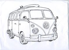 coloriages de bagnoles combi volkswagen a colorier bus. Black Bedroom Furniture Sets. Home Design Ideas