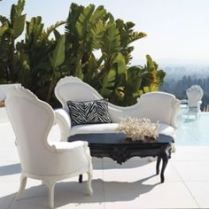 Oh to be rich, I want this! Donatella Seating from Frontgate