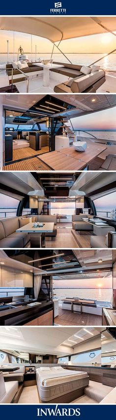 Ferretti Yachts 550 - interior | New design layouts and features. #luxuryyachts