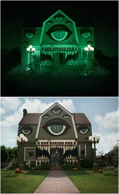 Amaze Your Neighbors with This Easy to Make Monster Halloween House Decor - - Halloween Prop, Halloween Town, Casa Halloween, Halloween Outside, Halloween Home Decor, Outdoor Halloween, Diy Halloween Decorations, Holidays Halloween, Halloween Themes