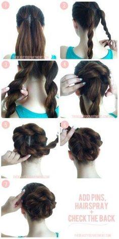 Mai kedvenc #frizura - lépésről lépésre / Today's favourite #hairstyle - #stepbystep #sbs