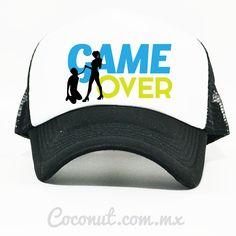 "Gorra de malla ""Game Over"" negra disponible en www.coconut.com.mx Síguenos en Facebook https://www.facebook.com/coconutstoremx/"