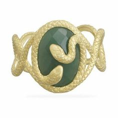 18 Karat Gold-Plated and Aventurine Cuff Bracelet JL Fine Bracelets Collection. $568.98. Crafted of .925 sterling silver. Exquisite quality. Comes pouched or boxed. Set with an aventurine gemstone