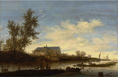 The Athenaeum - A View of Alkmaar with the Sint Laurenskerk from the North (Salomon van Ruysdael - )