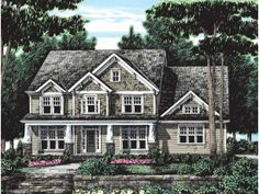 Craftsman House Plan with 2859 Square Feet and 4 Bedrooms(s) from Dream Home Source | House Plan Code DHSW38760
