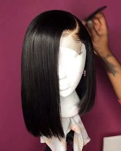 12 Bob Wigs For African American Women The Same As The Hairstyle In The Picture - Wigs For Black Women - Lace Front Wigs, Human Hair Wigs, African American Wigs, Short Wigs, Bob Wigs 12 Wig Styles, Curly Hair Styles, Natural Hair Styles, Natural Wigs, Human Hair Lace Wigs, Curly Wigs, Short Hair Wigs, Hair Laid, Lace Hair