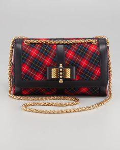 Sweet Charity Tartan Shoulder Bag by Christian Louboutin at Neiman Marcus.