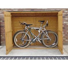Bike storage Shed - Solid Wood Bike Storage with Maximum Security System from Shire . Outdoor Bicycle Storage, Bicycle Storage Shed, Outdoor Storage Sheds, Bike Shed, Shed Storage, Shed Design, Dcor Design, Garage Velo, Bike Locker