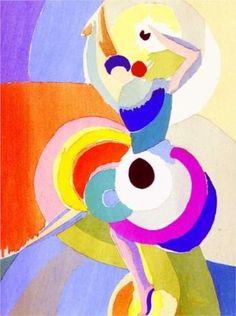 By Sonia Delaunay, 1916, Flamenco dancer. (Orphism)