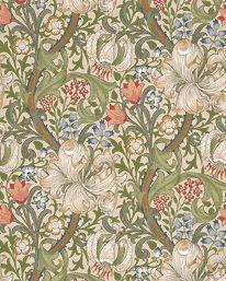 Tapetorama - Tapet 81124: Golden Lily Pale Biscuit från William Morris & Co