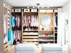 Eiken IKEA inloopkast | Inrichting-huis.com