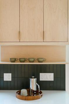 Backsplash options like straight set in deep Hunter Green offer a timeless alternative. Green Tile Backsplash, Kitchen Backsplash, Kitchen Interior, Kitchen Design, Green Subway Tile, Fireclay Tile, Style Tile, Flat Ideas, Kitchen Remodel