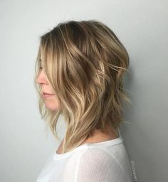 Shoulder-Length Blonde Shag