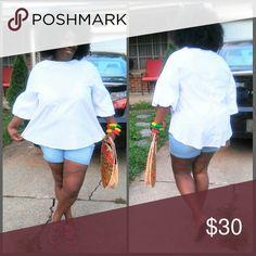 Fabulous white blouse Cute blouse Ashley Stewart Tops