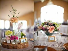 Rustic wedding centerpieces //// Happily Ever After Weddings