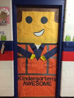 Kindergartens awesome! Lego movie classroom door