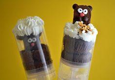 Sweetology: Groundhog Day Cupcake Push Pops!!
