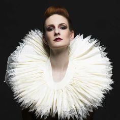Elizabethan Ruff Reproduction by Rebekah Skelly, via Behance