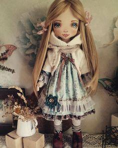Купить Ксения - кукла, коллекционная кукла, авторская кукла, американский хлопок, хлопок, текстиль