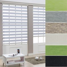 """B&C Korea Roller blind Zebra shade Home Window blind Width Size from 15"""" to 32""""  #BC"""