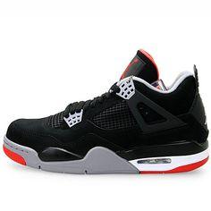 Nike Air Jordan Retro 4 Basketball Shoes Black