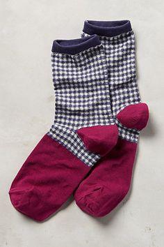 Gingham Crew Socks #anthropologie