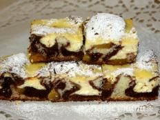All Time Easy Cake : Spotted quark cake with peaches, Czech Recipes, Russian Recipes, Ethnic Recipes, Sweet Bakery, Healthy Cookies, Easy Cake Recipes, Pavlova, Cheesecake Recipes, Food And Drink