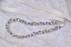 Bridal Belt or crystal rhinestone headband.  SO much sparkle for a thin wedding belt.