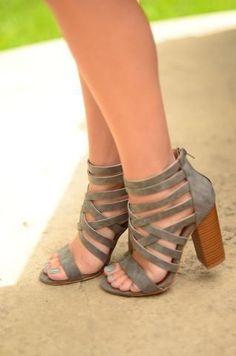Come My Way Heels- Grey