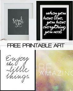 free printables for home - Google Search