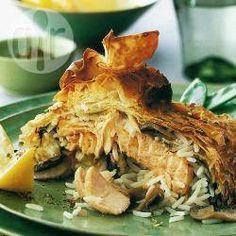 Salmon koulibiac @ allrecipes.co.uk
