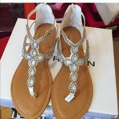 New summer collection by viviglam  Super nice embroidery beaded sandals has a back zipper easy to wear on/off brand new in a box gorgeous for any occasion Reduced  Bamboo Shoes Sandals