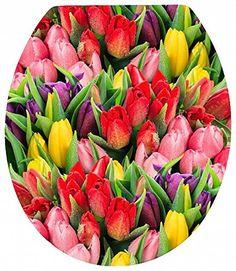 Tulips Toilet Seat – Garden Flower Floral Theme – Acrylic