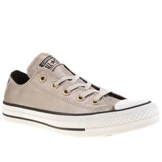 Womens Gold Converse All Star Color Shift Leather Ox Trainers   schuh