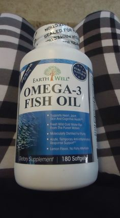 Omega 3 Fish Oil Supplement Lemon Flavored by Earthwell Nutrition  Taking charge of your health is the most important factors we face, and using supplements is a great way to add to that heal...