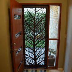 Best Ideas For Decorative Screen Doors Front Entry Metal Screen Doors, Front Door With Screen, Wooden Screen Door, Front Entry, Front Doors, Sliding Doors, Door Gate Design, Main Door Design, Front Door Design