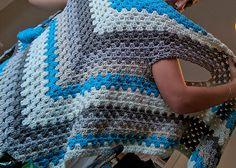 Ravelry: Striped Triangle Shawl-Vest pattern by Michelle Greenberg