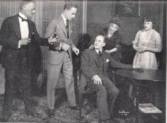 George Pauncefort, Leslie Howard, Geoffrey Kerr, Mrs Thomas Whiffenand Patricia Collinge in Just Suppose.New York,Henry Miller's Theatre, 1920