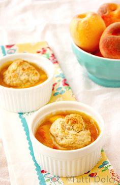 Individual Spiced Peach Cobblers