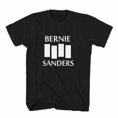 Black Flag Bernie Sanders Feel The Bern Man's T-Shirt