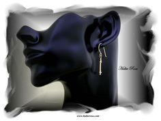 14k gold filled column earrings.