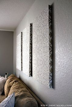 DIY Fabric Wall Panels no canvas required!